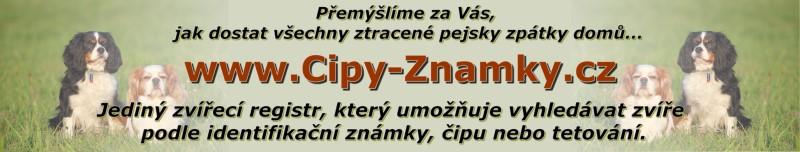 Registr zvířat Cipy-Znamky.cz | Registr zvířecích čipů, tetování a identifikačních známek.
